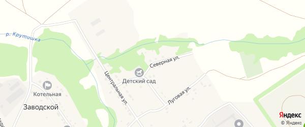 Северная улица на карте Заводского поселка с номерами домов