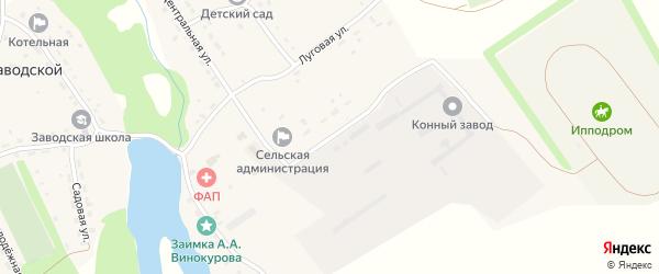 Ипподромная улица на карте Заводского поселка с номерами домов