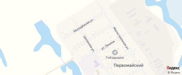 Улица Маяковского на карте Первомайского поселка с номерами домов