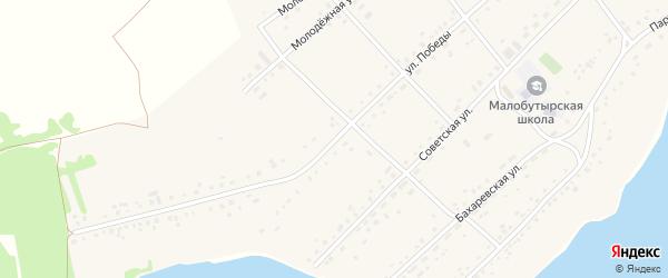 Улица Победы на карте села Малых Бутырки с номерами домов