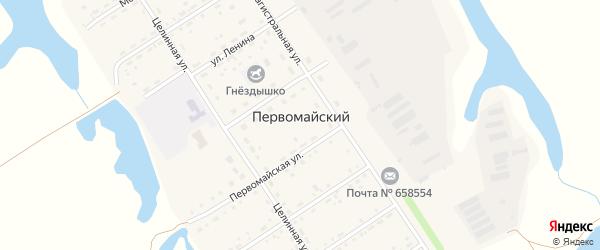 Новая улица на карте Первомайского поселка с номерами домов