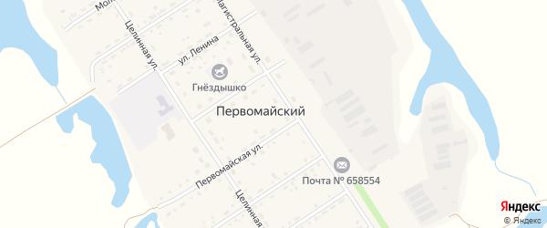 Улица Горького на карте Первомайского поселка с номерами домов