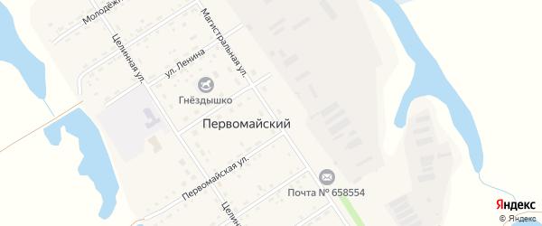 Магистральная улица на карте Первомайского поселка с номерами домов