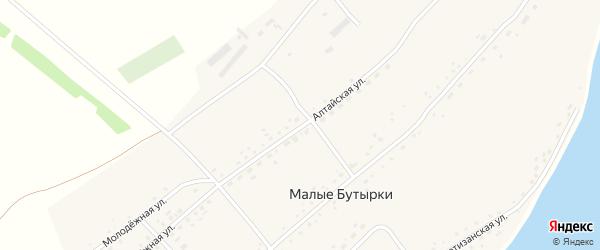 Молодежная улица на карте села Малых Бутырки с номерами домов