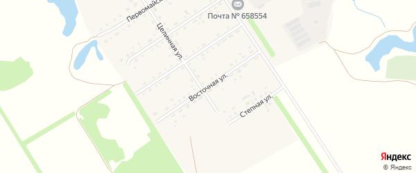 Восточная улица на карте Первомайского поселка с номерами домов