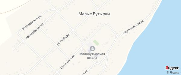 Советская улица на карте села Малых Бутырки с номерами домов