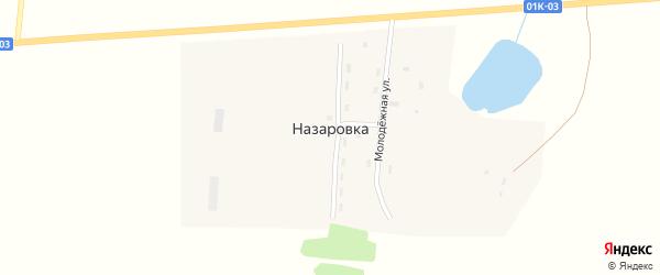 Молодежная улица на карте поселка Назаровки с номерами домов