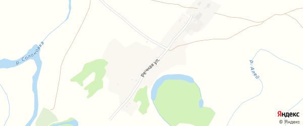 Речная улица на карте Поломошного села с номерами домов