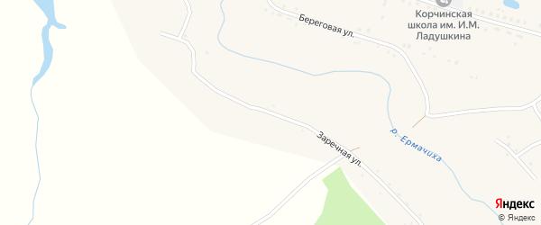 Заречная улица на карте села Корчино с номерами домов