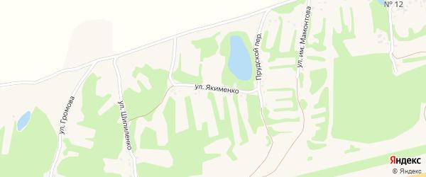 Улица Якименко на карте села Клепечихи с номерами домов