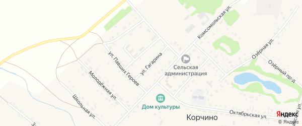 Улица Гагарина на карте села Корчино с номерами домов
