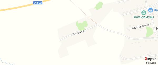 Луговая улица на карте села Мезенцево с номерами домов