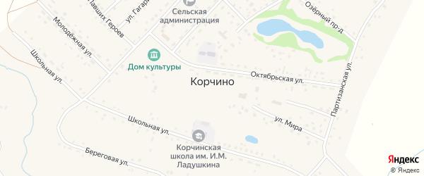 Улица Братьев Безгодовых на карте села Корчино с номерами домов