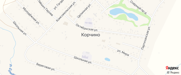 Улица Ладушкина на карте села Корчино с номерами домов