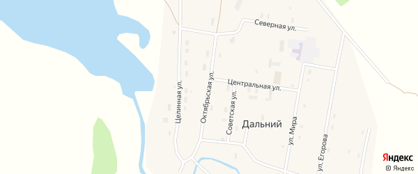 Октябрьская улица на карте Дальнего поселка с номерами домов