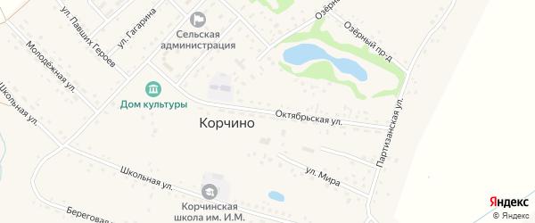 Октябрьская улица на карте села Корчино с номерами домов