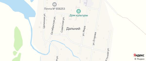 Тупиковый переулок на карте Дальнего поселка с номерами домов