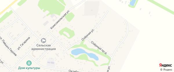 Озерная улица на карте села Корчино с номерами домов