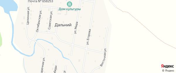 Улица им Николая Егорова на карте Дальнего поселка с номерами домов