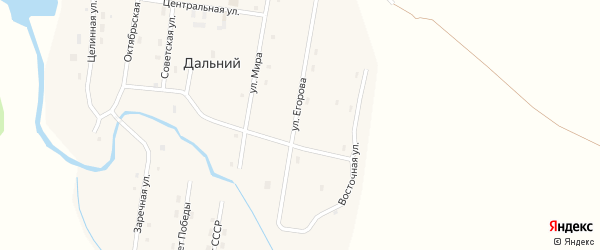 Заречная улица на карте Дальнего поселка с номерами домов