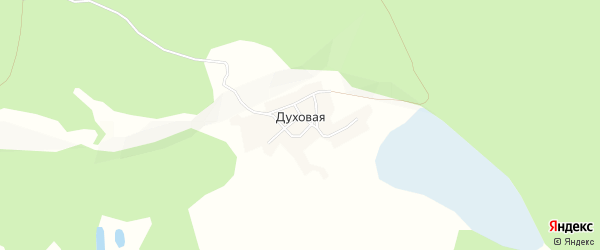 Карта Духовой деревни в Алтайском крае с улицами и номерами домов