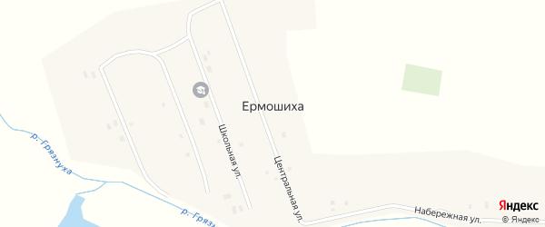 Центральная улица на карте села Ермошихи с номерами домов