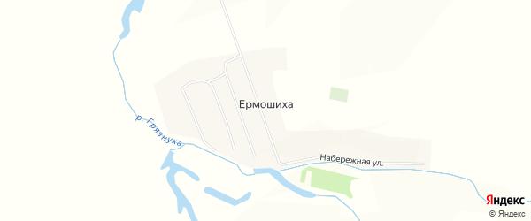 Карта села Ермошихи в Алтайском крае с улицами и номерами домов