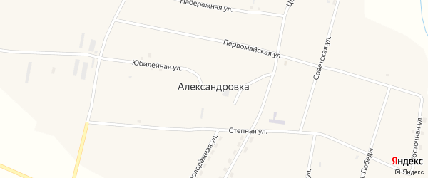 Степная улица на карте села Александровки с номерами домов