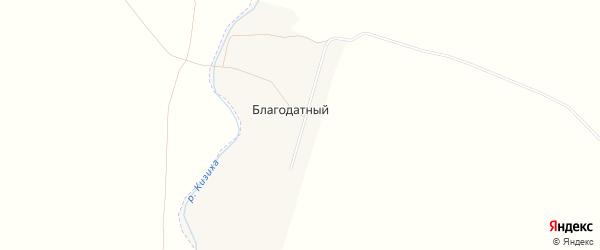 Карта Благодатного поселка в Алтайском крае с улицами и номерами домов