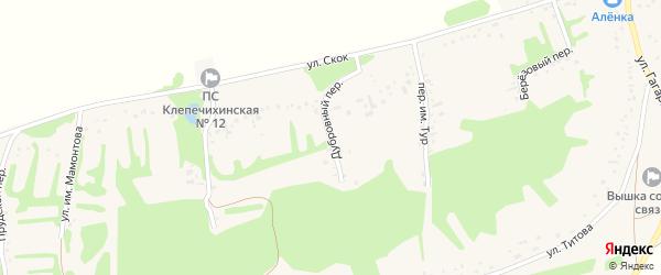 Дубровный переулок на карте села Клепечихи с номерами домов