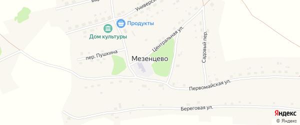 Садовый переулок на карте села Мезенцево с номерами домов