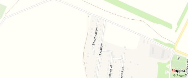 Западная улица на карте Октябрьского поселка с номерами домов