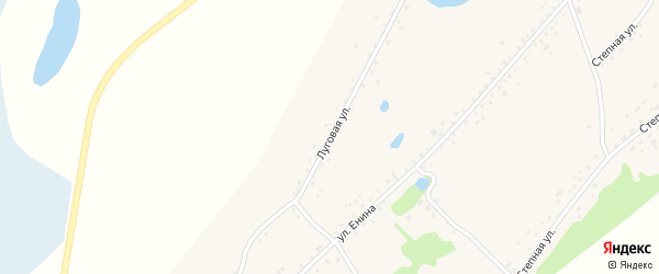 Луговая улица на карте Островного села с номерами домов