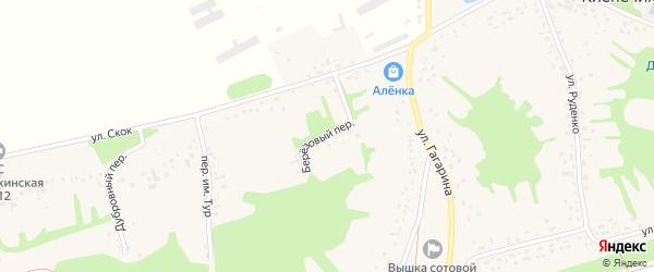 Березовый переулок на карте села Клепечихи с номерами домов