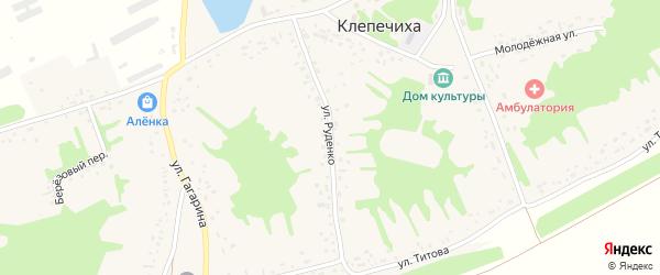 Улица Руденко на карте села Клепечихи с номерами домов