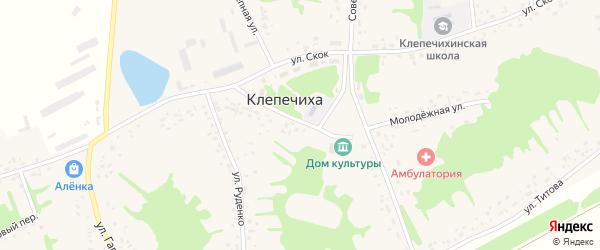 Парковый переулок на карте села Клепечихи с номерами домов