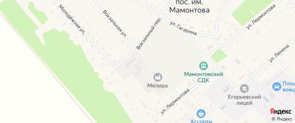 Вокзальная улица на карте поселка им Мамонтова с номерами домов