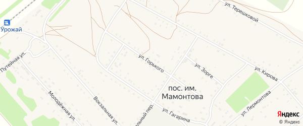 Улица Горького на карте поселка им Мамонтова с номерами домов