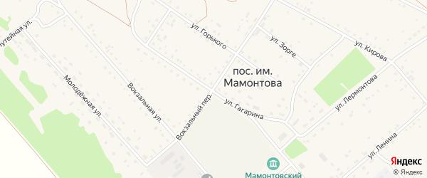 Переулок Гагарина на карте поселка им Мамонтова с номерами домов