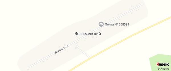 Луговая улица на карте Вознесенского поселка с номерами домов
