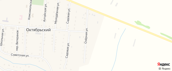 Озерная улица на карте Октябрьского поселка с номерами домов
