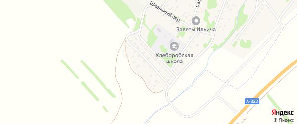 Мамонтовский переулок на карте поселка Хлебороба с номерами домов