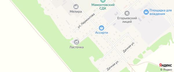 Садовая улица на карте поселка им Мамонтова с номерами домов