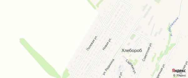 Полевая улица на карте поселка Хлебороба с номерами домов