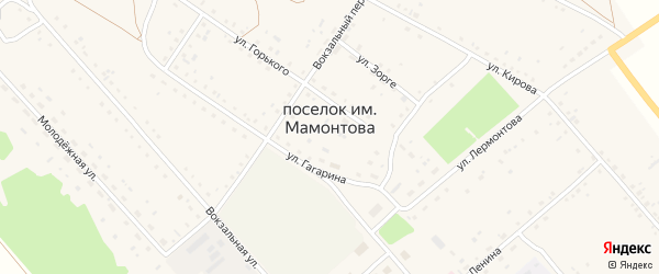 Переулок Зорге на карте поселка им Мамонтова с номерами домов