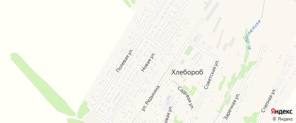 Новая улица на карте поселка Хлебороба с номерами домов