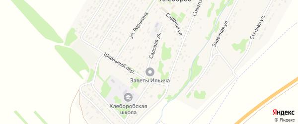 Садовая улица на карте территории сдт Мичуринца с номерами домов