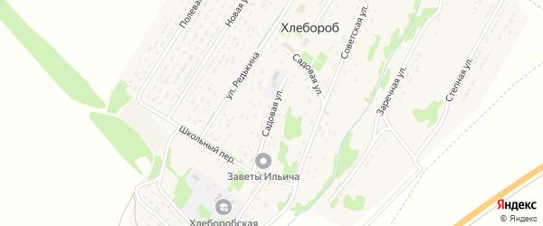 Садовая улица на карте поселка Хлебороба с номерами домов