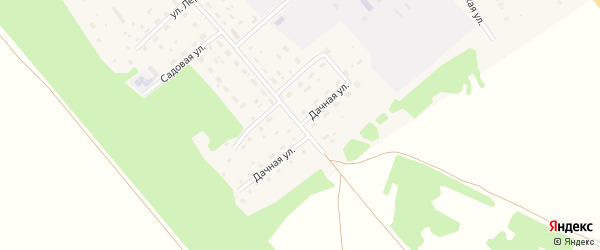 Дачная улица на карте поселка им Мамонтова с номерами домов