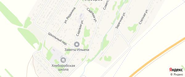 Советская улица на карте поселка Хлебороба с номерами домов
